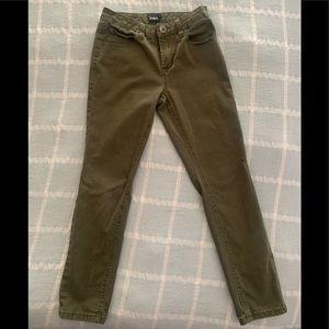 Hudson boys Army green slim jeans sz 10